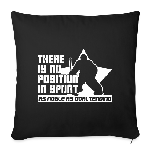 Ice Hockey Goalie Quote - Sofa pillow with filling 45cm x 45cm