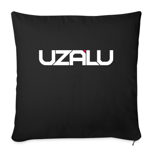 uzalu Text Logo - Sofa pillow with filling 45cm x 45cm