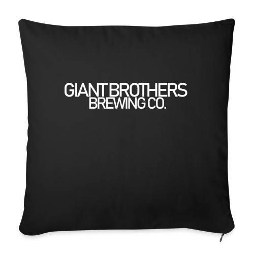 Giant Brothers Brewing co white - Soffkudde med stoppning 44 x 44 cm