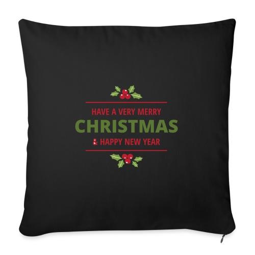 merry christmas, christmas present, christmas tree - Sofa pillow with filling 45cm x 45cm