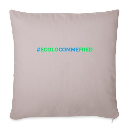ecolocommefred - Coussin et housse de 45 x 45 cm