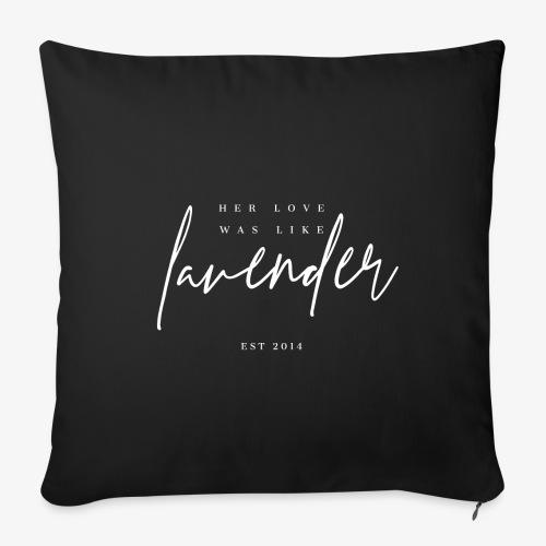 Her love was like lavender - Chouette (Pillow) - Sofakissen mit Füllung 44 x 44 cm