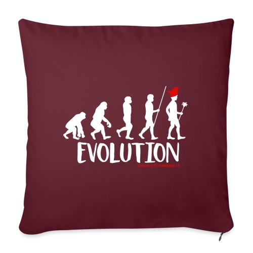 Die Evolution - Sofakissen mit Füllung 44 x 44 cm