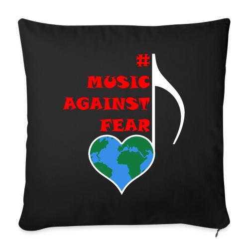 #MusicAgainstFear - Weiß - Sofakissen mit Füllung 44 x 44 cm
