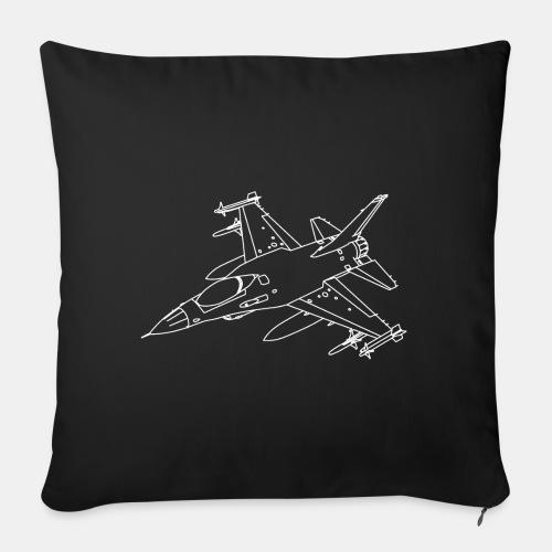 F-16 Viper / Fighting Falcon jet fighter / F16 - Sofa pillow with filling 45cm x 45cm