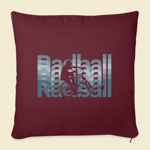 Radball | Typo Art - Sofakissen mit Füllung 44 x 44 cm