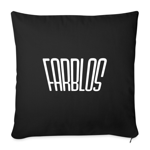 COLORLESS logo - Sofa pillow with filling 45cm x 45cm