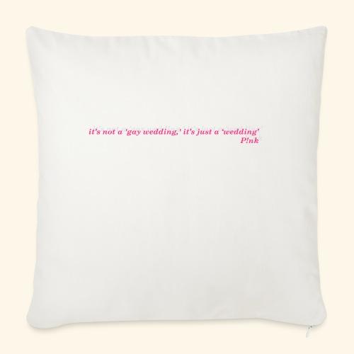 Gay wedding - Poduszka na kanapę z wkładem 44 x 44 cm