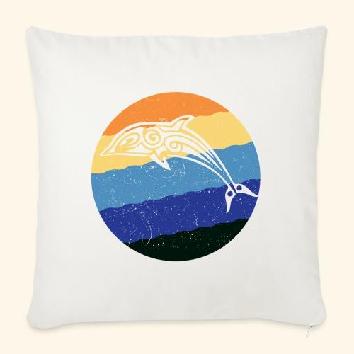 Greek Dolphin Retro - Sofa pillow with filling 45cm x 45cm