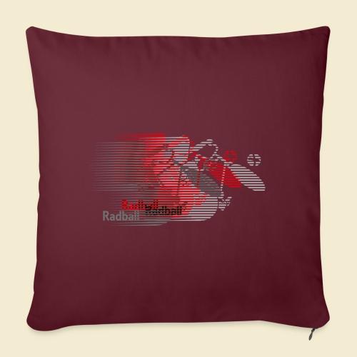 Radball | Earthquake Red - Sofakissen mit Füllung 44 x 44 cm