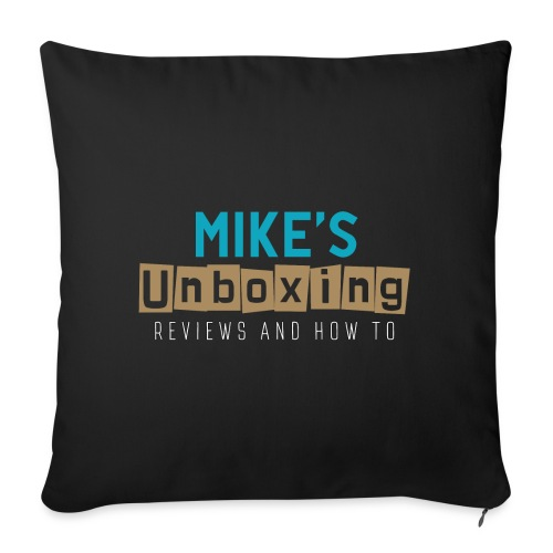 Mikesunboxing Classic Logo - Sofa pillow with filling 45cm x 45cm
