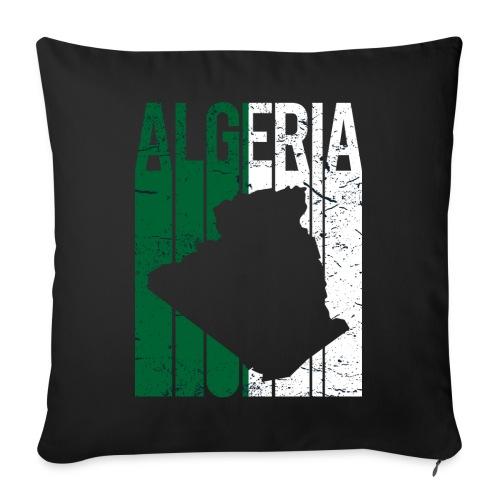 flag of Algeria t-shirt design grunge effect - Cuscino da divano 44 x 44 cm con riempimento