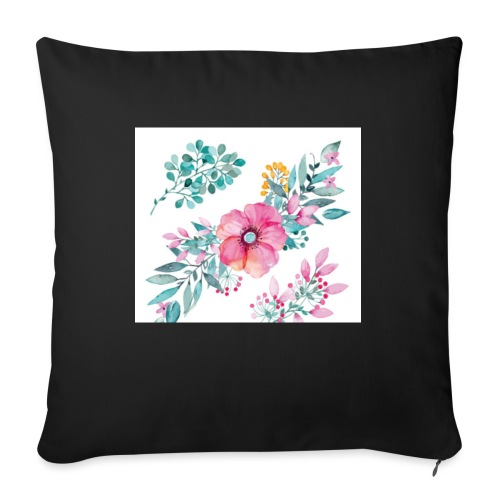 Fleurs - Coussin et housse de 45 x 45 cm