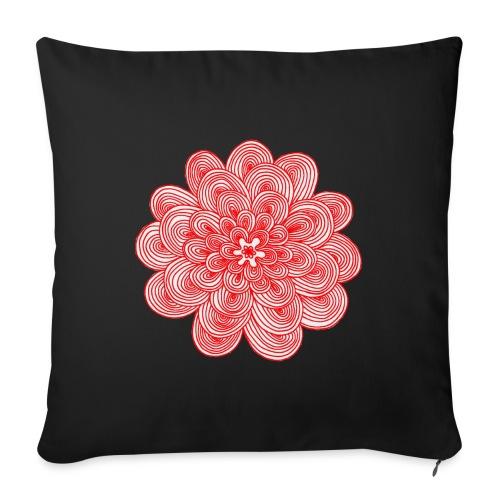 hypnotic flower red - Cuscino da divano 44 x 44 cm con riempimento