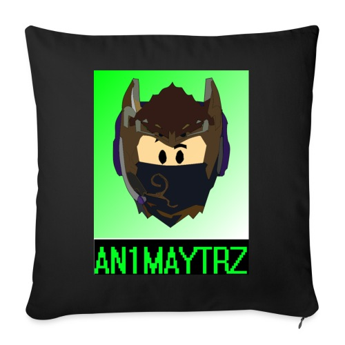 AN1MAYTRZ logo + title - Sofa pillow with filling 45cm x 45cm