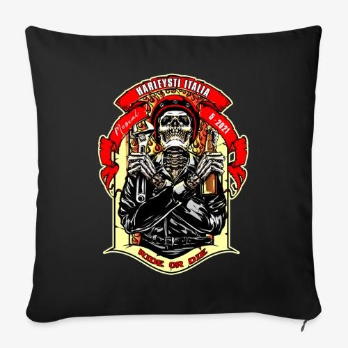 Teschio con casco, birra e chiave inglese - Cuscino da divano 44 x 44 cm con riempimento