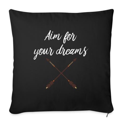 Aim for your Dreams white - Sohvatyynyt täytteellä 44 x 44 cm