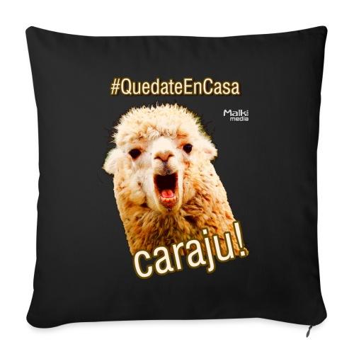 Quedate En Casa Caraju - Coussin et housse de 45 x 45 cm