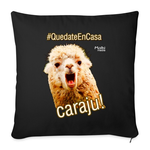 Quedate En Casa Caraju - Sofa pillow with filling 45cm x 45cm