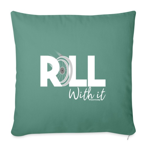 Amy's 'Roll with it' design (white text) - Sofa pillow with filling 45cm x 45cm