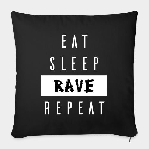 EAT SLEEP RAVE REPEAT - Sofakissen mit Füllung 44 x 44 cm