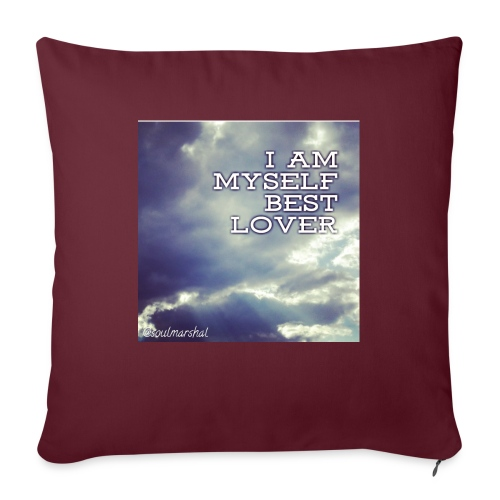 I Am Myself best Lover - Sohvatyynyt täytteellä 44 x 44 cm