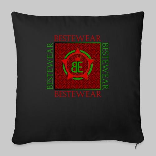 #Bestewear - Royal Line (Green/Red) - Sofakissen mit Füllung 44 x 44 cm