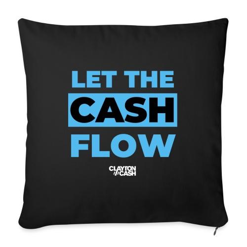 LET THE CASH FLOW - Bankkussen met vulling 44 x 44 cm