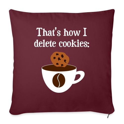 Cookies Kaffee Nerd Geek - Sofakissen mit Füllung 44 x 44 cm