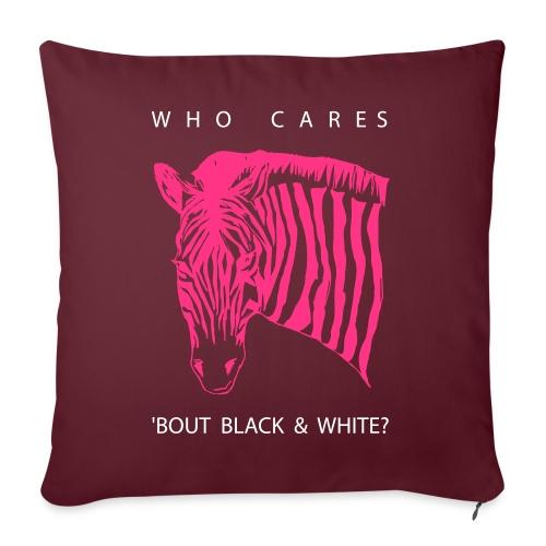 Zebra Who Cares? - Sofakissen mit Füllung 44 x 44 cm