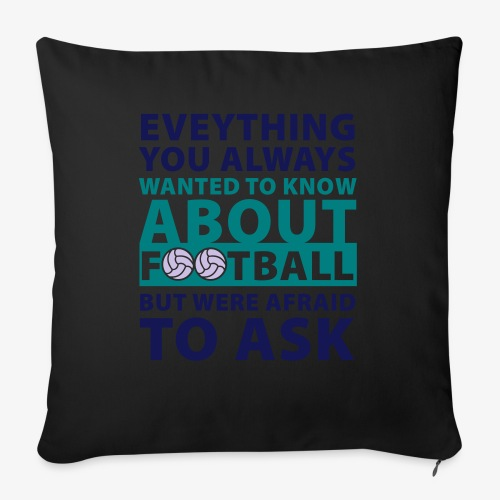 Todo sobre el fútbol - Cojín de sofá con relleno 44 x 44 cm