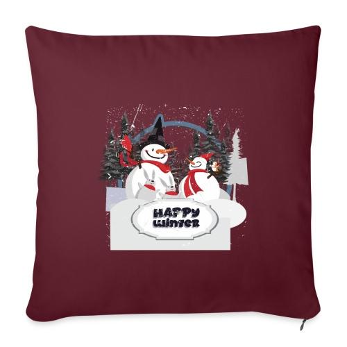 happy winter - Coussin et housse de 45 x 45 cm