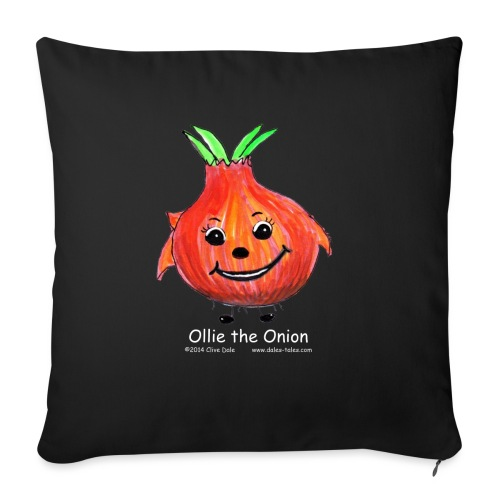 mens black T-shirt Ollie the Onion - Sofa pillow with filling 45cm x 45cm