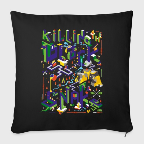 Kill the black snake - Coussin et housse de 45 x 45 cm