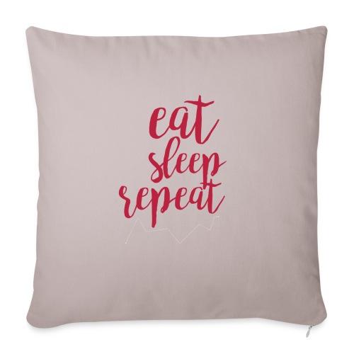 eat sleep repeat - Cojín de sofá con relleno 44 x 44 cm