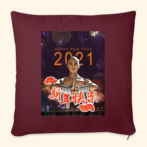 Gordon Liu som SanTe - Warrior Monk - Happy NewYear - Sofapude med fyld 44 x 44 cm