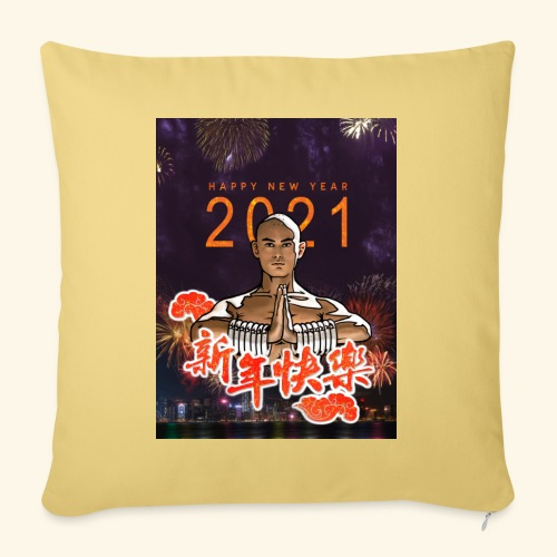 Gordon Liu as San Te - Warrior MonK - New Year - Bankkussen met vulling 44 x 44 cm
