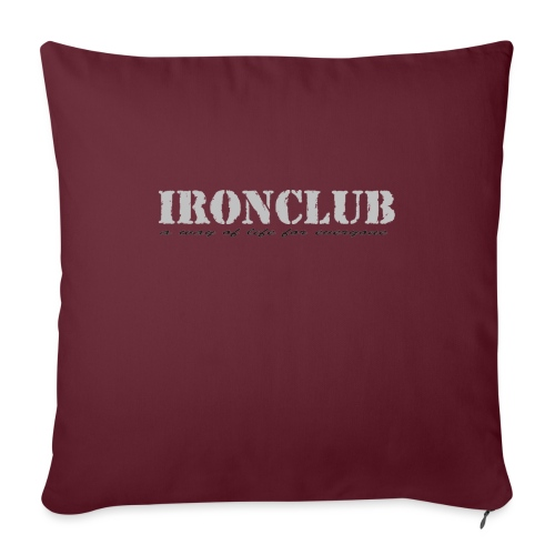 IRONCLUB - a way of life for everyone - Sofapute med fylling 44 x 44 cm