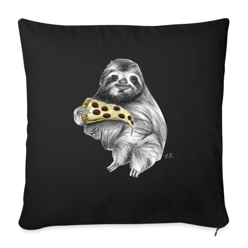 Slot Eating Pizza - Sofa pillow with filling 45cm x 45cm