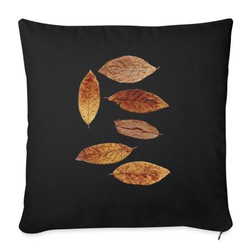 Bunte Blätter - Sofakissen mit Füllung 44 x 44 cm