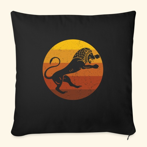 Lion - African Retro - Sofa pillow with filling 45cm x 45cm
