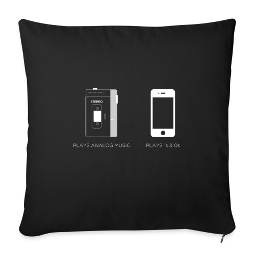 walkman analog - phone 1&0s - Sofa pillow with filling 45cm x 45cm