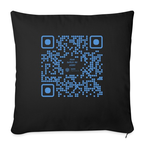 QR The New Internet Shouldn t Be Blockchain Based - Sofa pillow with filling 45cm x 45cm