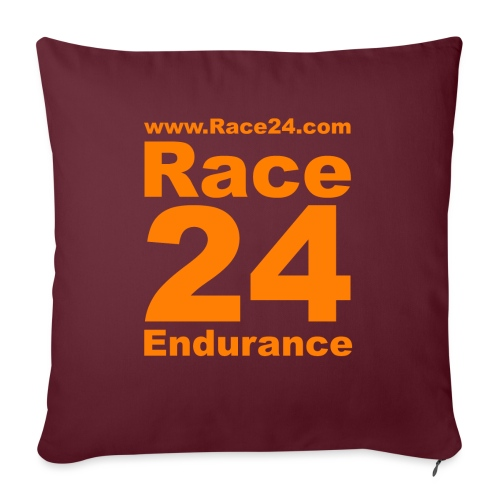 Race24 Logo in Orange - Sofa pillow with filling 45cm x 45cm