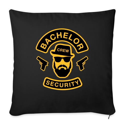 Bachelor Security - JGA T-Shirt - Bräutigam Shirt - Sofakissen mit Füllung 44 x 44 cm