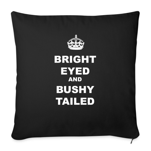 BRIGHT EYED AND BUSHY TAILED - Sofa pillow with filling 45cm x 45cm