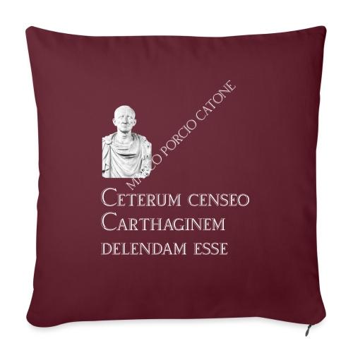 Antica Roma Catone - Cuscino da divano 44 x 44 cm con riempimento