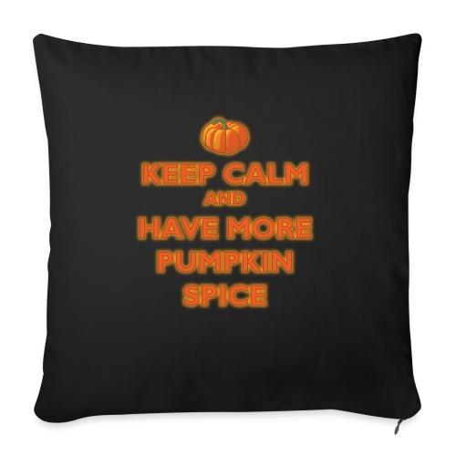 KeepCalmPumpkinSpice - Cuscino da divano 44 x 44 cm con riempimento