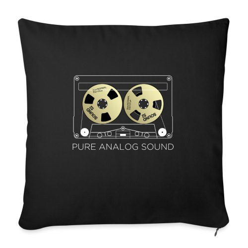 Reel golden cassette - Sofa pillow with filling 45cm x 45cm