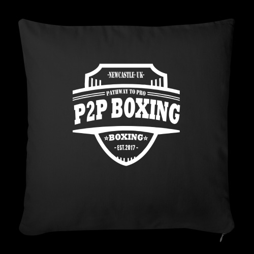 P2P Boxing White Logo - Sofa pillow with filling 45cm x 45cm